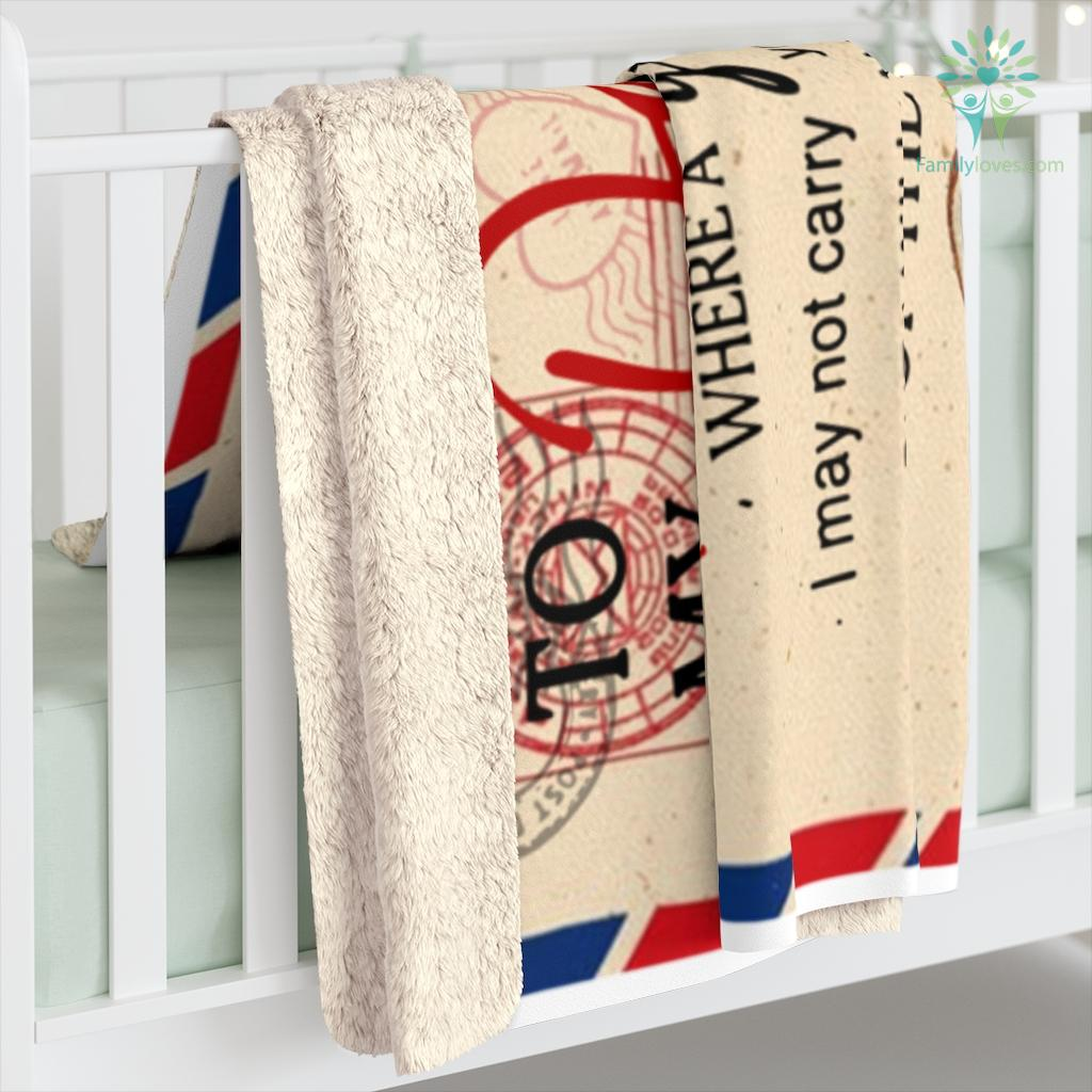 To My Daughter I Close My Eyes For But A Moment Love Mom Sherpa Fleece Blanket Familyloves.com