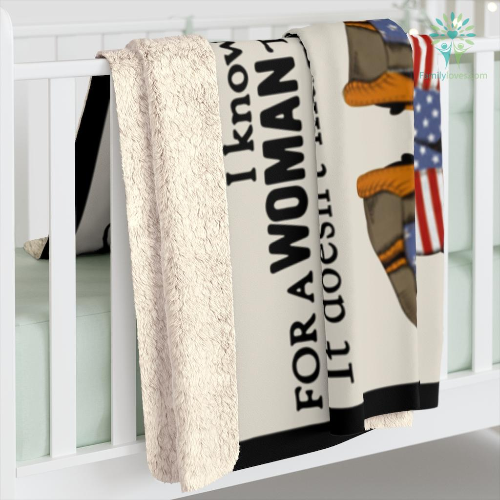 Army To My Mom I Know It's Not Easy For A Woman To Raise A Child Love Daughter Sherpa Fleece Blanket Familyloves.com