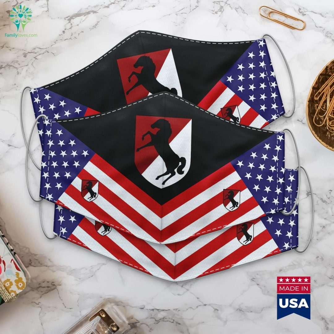 11Th Armored Cavalry Regiment Us Army Us Military News Today Cloth Face Mask Gift Familyloves.com