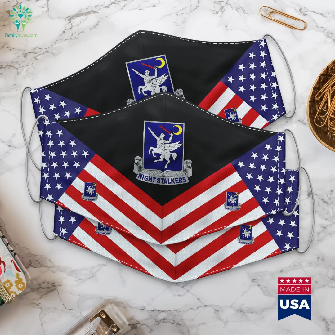 160Th Special Operations Aviation Regiment Airborne Us Army Military Branch Symbols Cloth Face Mask Gift Familyloves.com