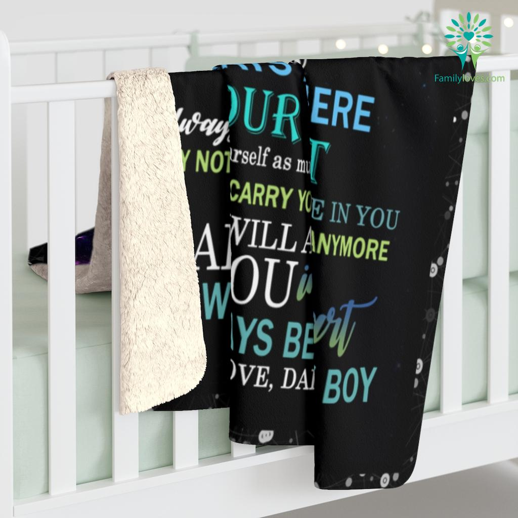 To My Amazing Son Never Feel That You Are Alone Love Dad Sherpa Fleece Blanket Familyloves.com