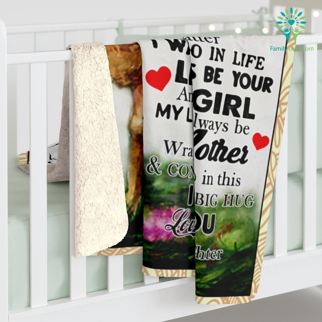 To My Mom I Know It's Not Easy For A Woman To Raise A Child Love Daughter Sherpa Fleece Blanket Familyloves.com