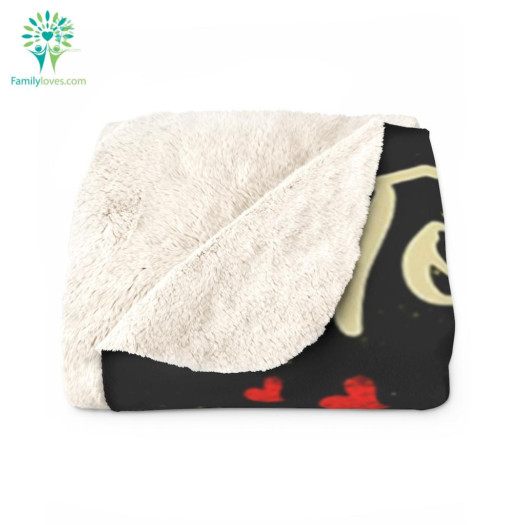 To My Dad I Am Because You Are So Much Of Me Is Made From Love Daughter Sherpa Fleece Blanket Familyloves.com
