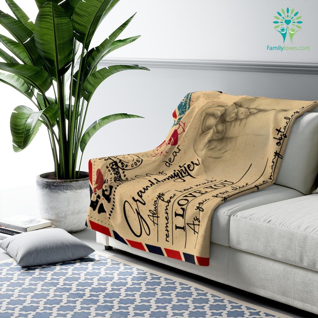 My Dear Granddaughter Always Remember How Much I Love Grandma Sherpa Fleece Blanket Familyloves.com