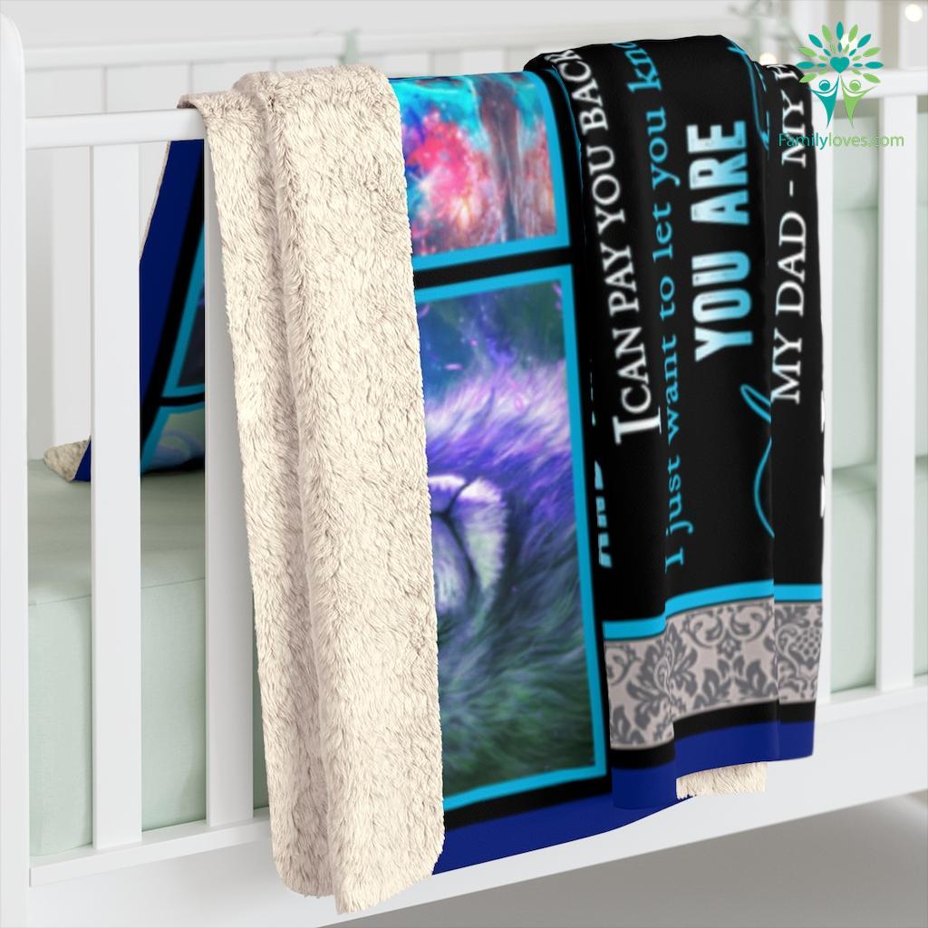 To My Dad I Know It's Not Easy For A Man Love Your Son Sherpa Fleece Blanket Familyloves.com