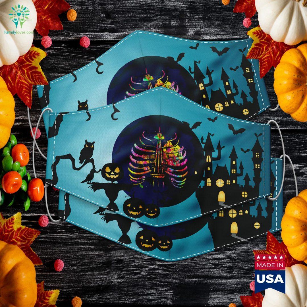 Halloween Art Bone Teachers Perfect Gift Halloween Images Cloth Face Mask Gift Familyloves.com