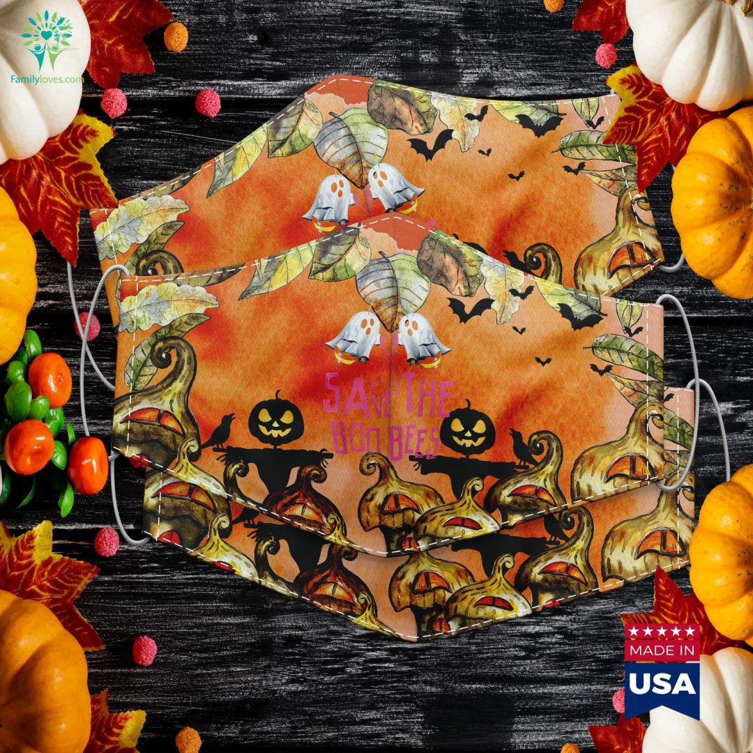 Save The Boo Bees Breast Cancer Awareness Halloween Halloween Room Decor Cloth Face Mask Gift Familyloves.com