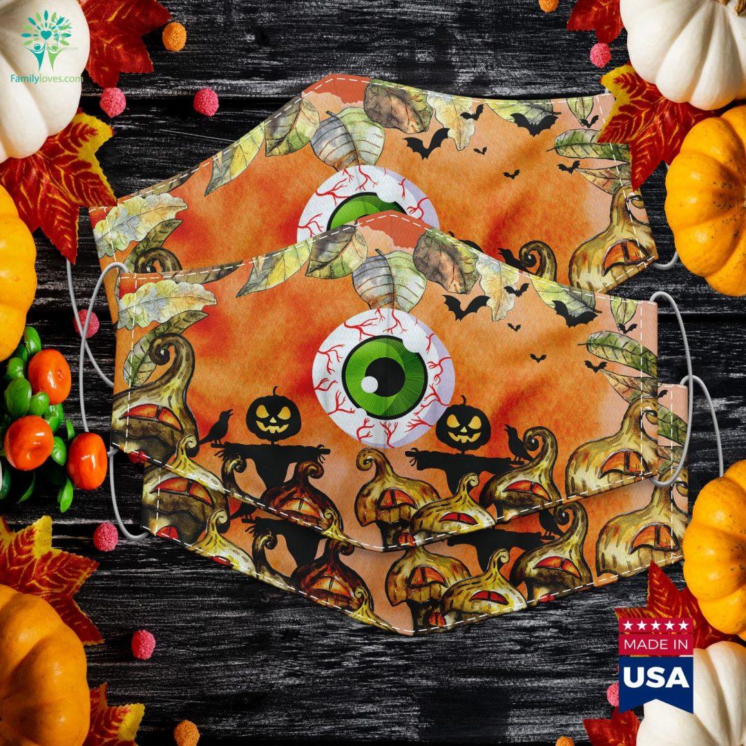 Spooky Scary Eyeball Halloween Eyeball Cheap Funny Halloween Costumes Cloth Face Mask Gift Familyloves.com