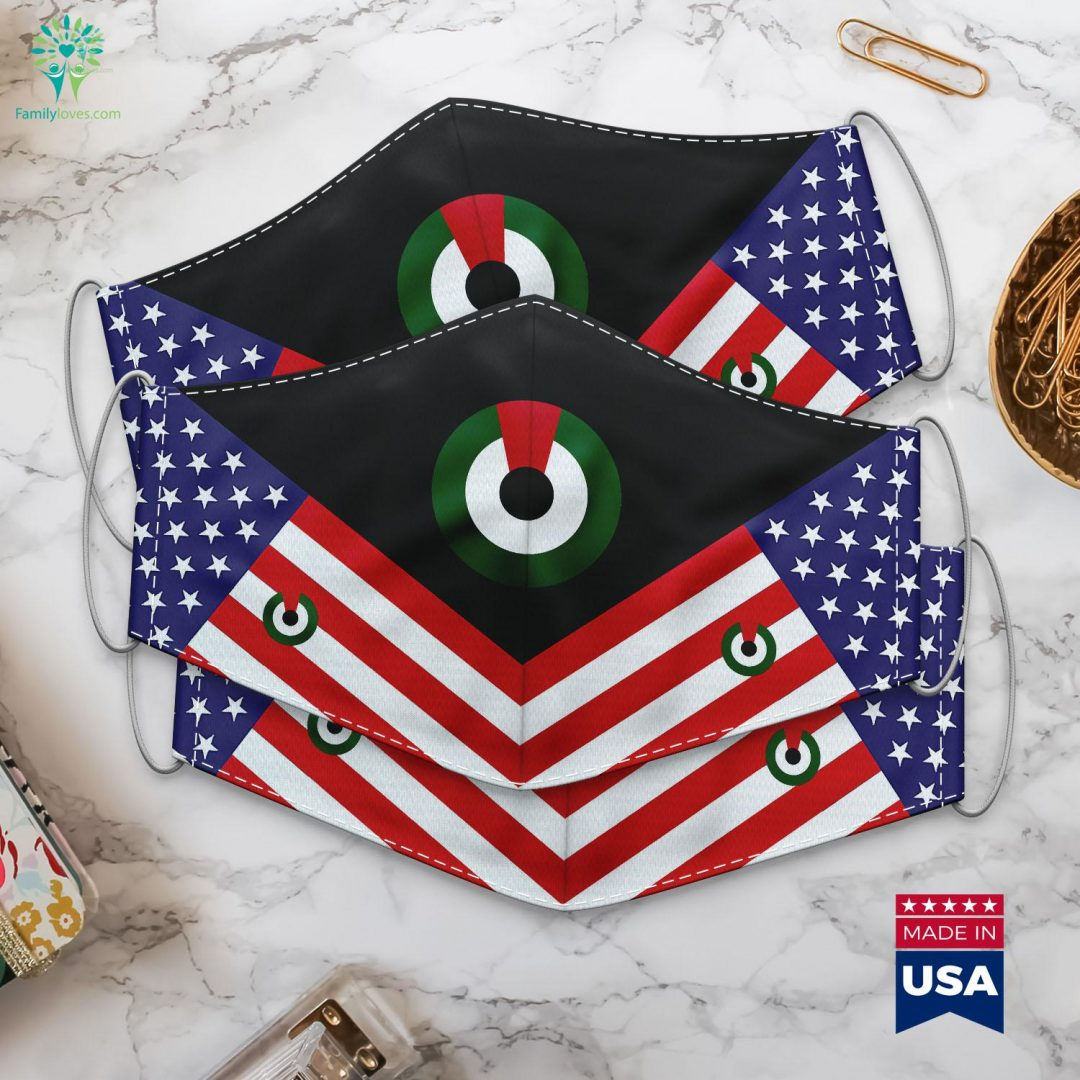 United Arab Emirates Air Force Roundel Armed Forces Emblems Cloth Face Mask Gift Familyloves.com