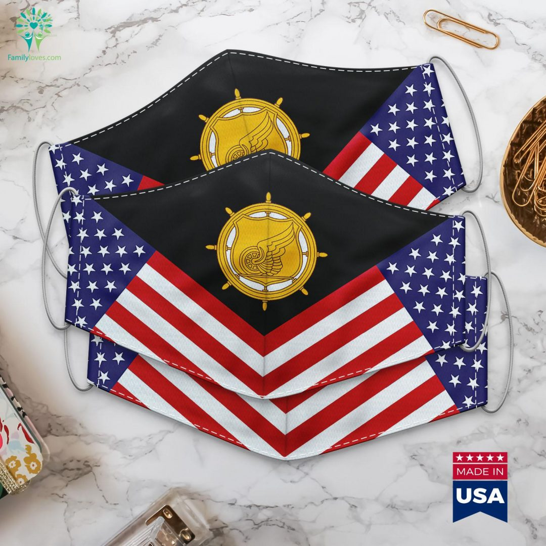 Us Army Transportation Corps Emblem Militarys Cloth Face Mask Gift Familyloves.com