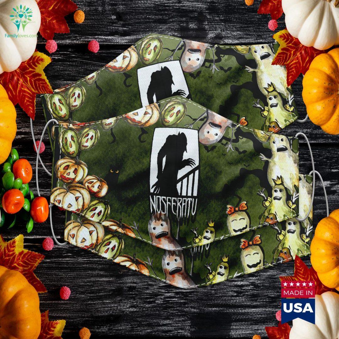 Vampire Nosferatu Monster Shadow Dracula Halloween Halloween Cake Off Cloth Face Mask Gift Familyloves.com