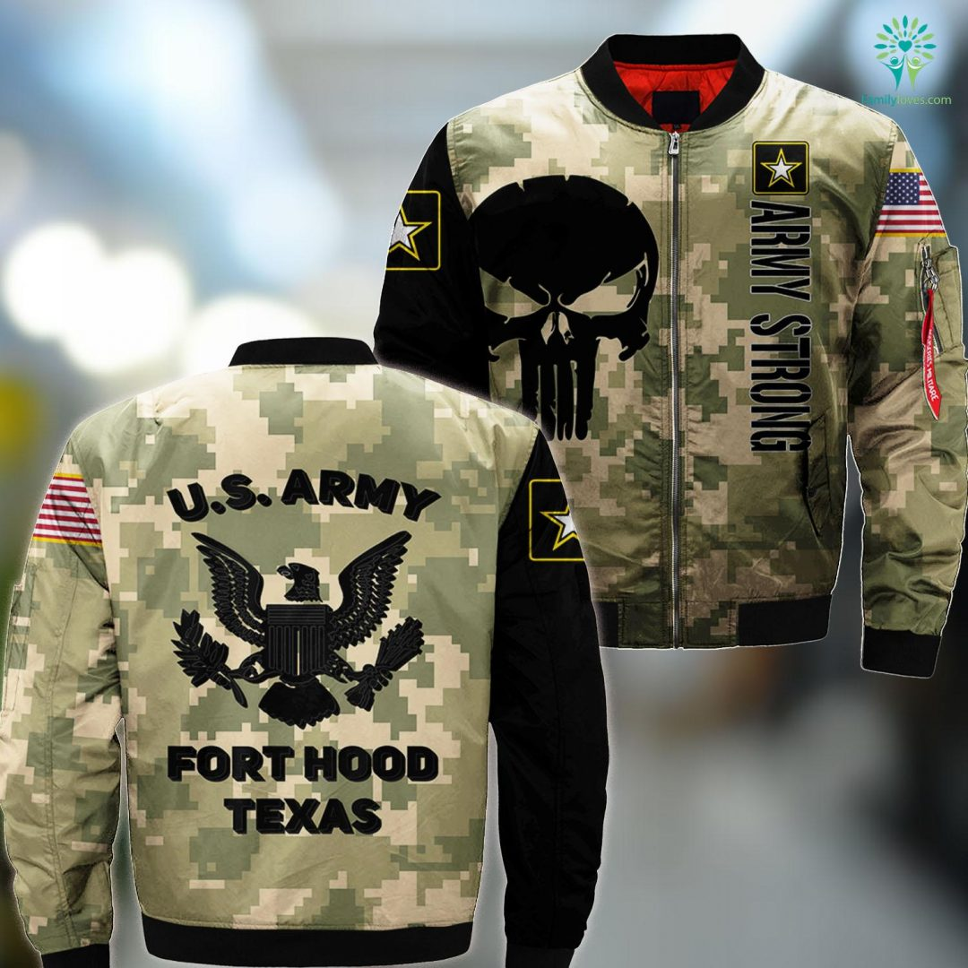 Army Base Missouri Mens U.S Army Fort Hood Killeen Texas Support MA1 Bomber Jacket All Over Print Familyloves.com