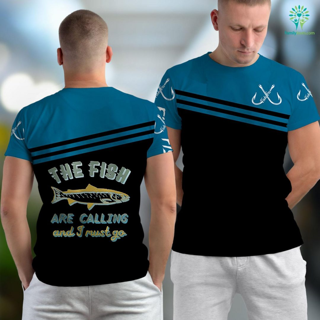 Charleston Fishing Report The Fish Are Calling I Must Go Funny Vintage Fishing Fishing Unisex T-shirt All Over Print Familyloves.com