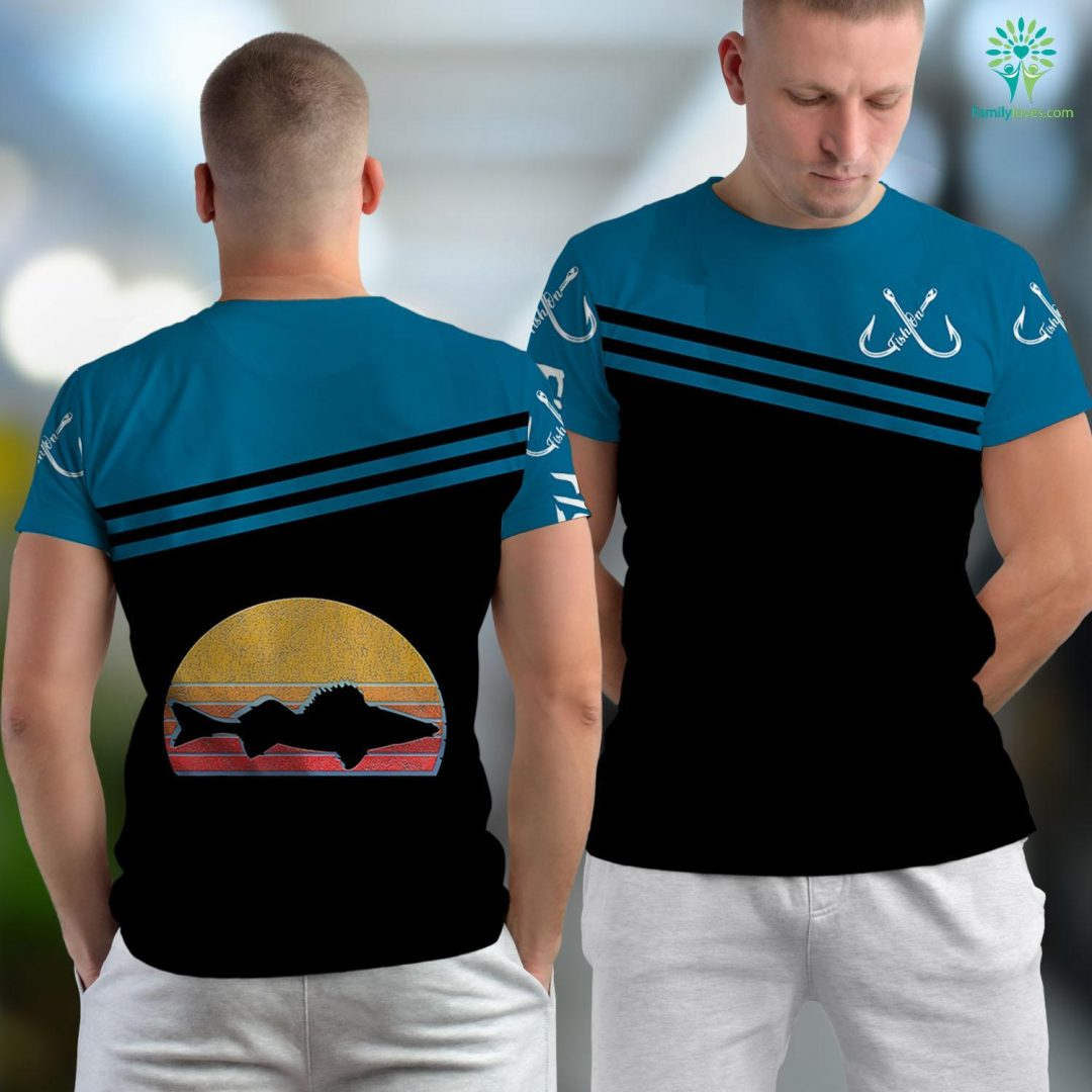 Deep Sea Fishing Daytona Beach Walleye Fishing Retro Walleye Sauger Fisherman Gift Fishing Unisex T-shirt All Over Print Familyloves.com