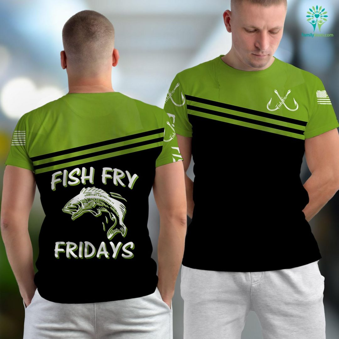 Deep Sea Fishing Orange Beach Al Fish Fry Fridays Fishing Cookout Fishing Unisex T-shirt All Over Print Familyloves.com