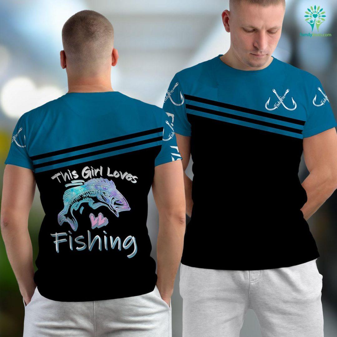 Destin Fishing Charters This Girl Loves Fishing Bass Nature Camper Women Mom Gift Fishing Unisex T-shirt All Over Print Familyloves.com