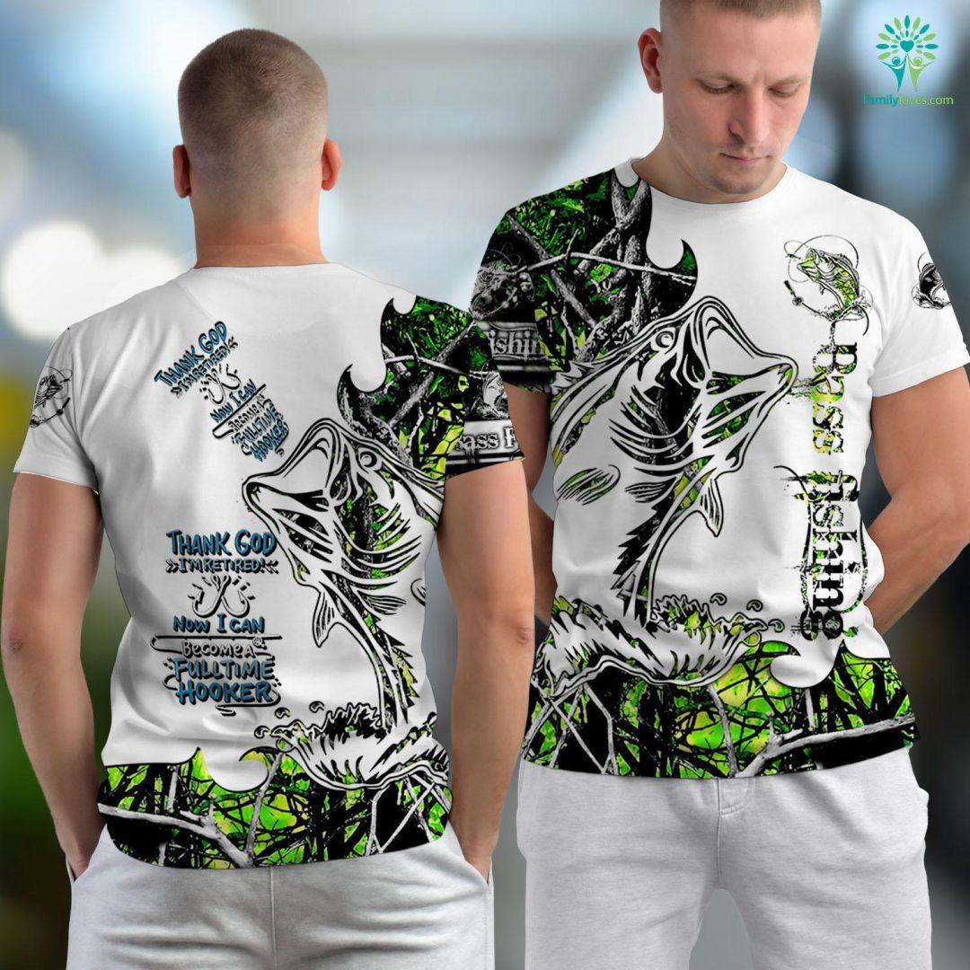 Destin Fishing Report Retired Fishing Hooker Funny Pensioner Retirement Fishing Unisex T-shirt All Over Print Familyloves.com
