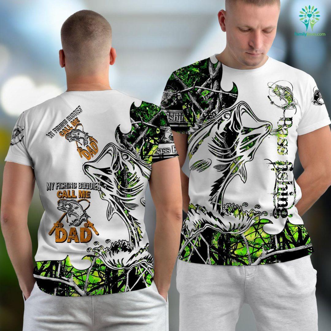 Eagle River Fishing Report My Fishing Buddies Call Me Dad Fishing Unisex T-shirt All Over Print Familyloves.com