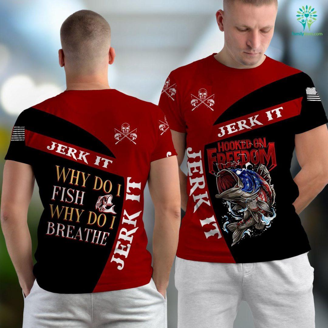 Farmington River Fishing Funny Fishing For Fisherman Why Do I Fish Breathe Gift Men Fishing Unisex T-shirt All Over Print Familyloves.com