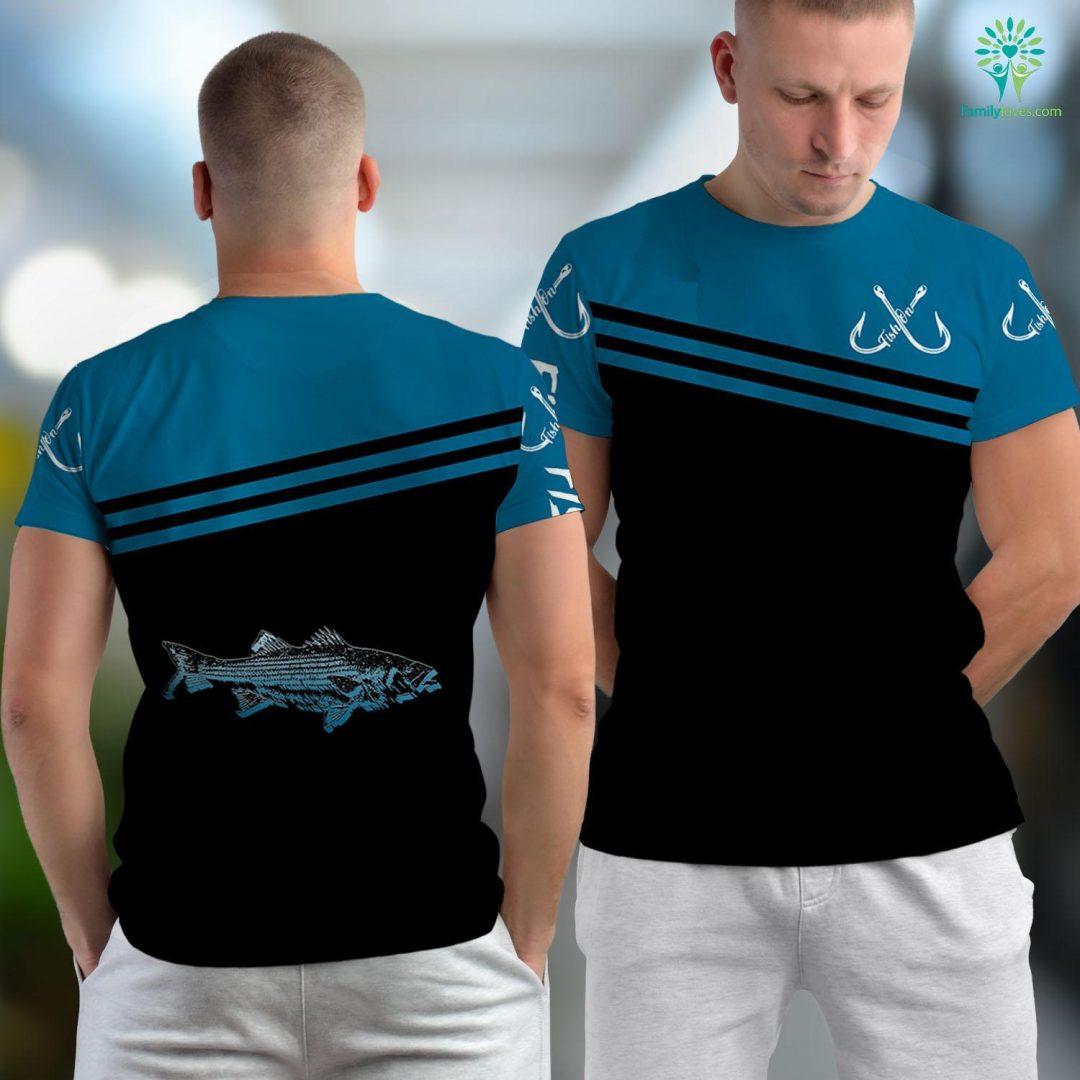 Fish 4 U Striper Fishing Striped Bass Lucky Fishing Fishing Unisex T-shirt All Over Print Familyloves.com