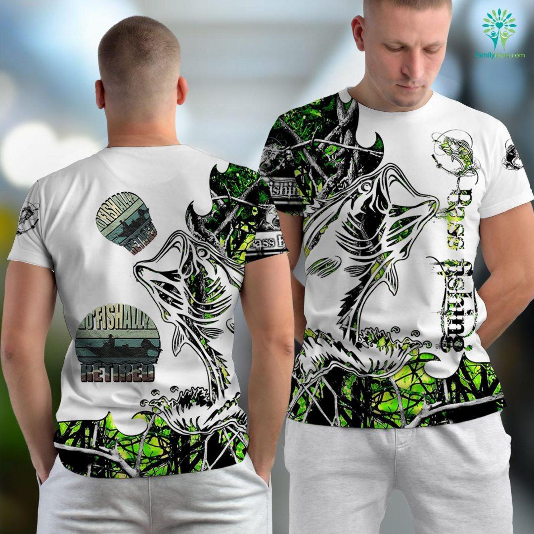 Fisher House Oficially Retired Funny Fishing Gift For Retirement Fishing Unisex T-shirt All Over Print Familyloves.com