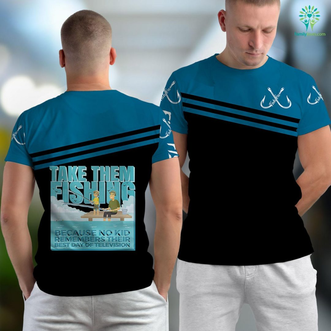 Fishing Charters Take Them Fishing Fun Fishing Unisex T-shirt All Over Print Familyloves.com