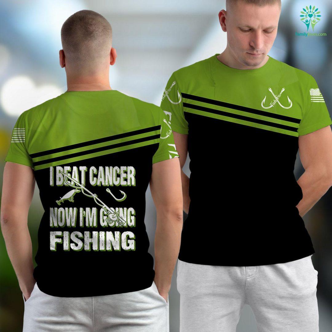 Gulf Shores Fishing Cancer Survivor Fishing I Beat Cancer Now Im Going Fishing Fishing Unisex T-shirt All Over Print Familyloves.com