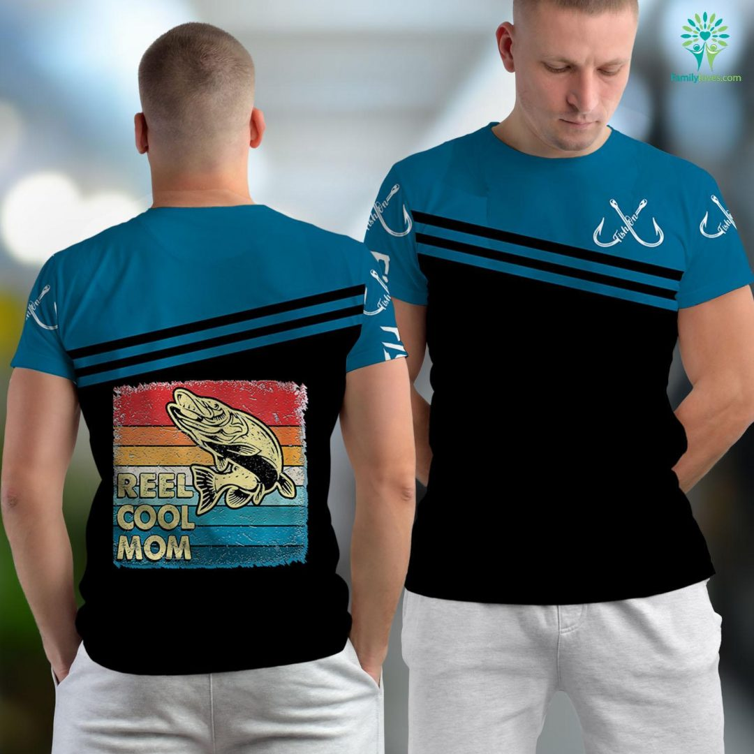 Port Aransas Fishing Charter Womens Reel Cool Mom Funny Fish Fishing Mothers Day Gift Fishing Unisex T-shirt All Over Print Familyloves.com