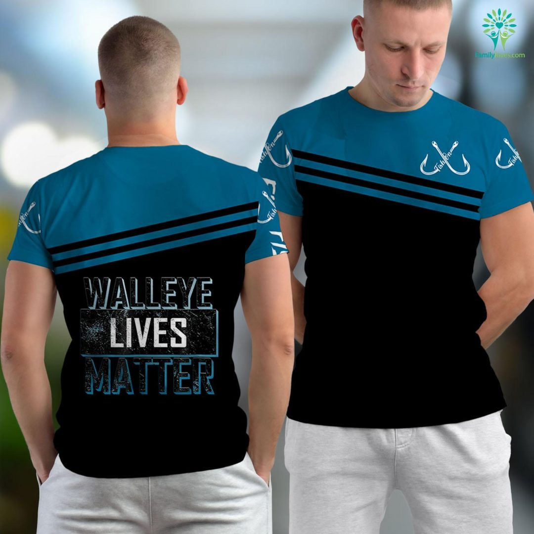 Rogue River Fishing Report Walleye Lives Matter Funny Walleye Fishing Fishing Unisex T-shirt All Over Print Familyloves.com