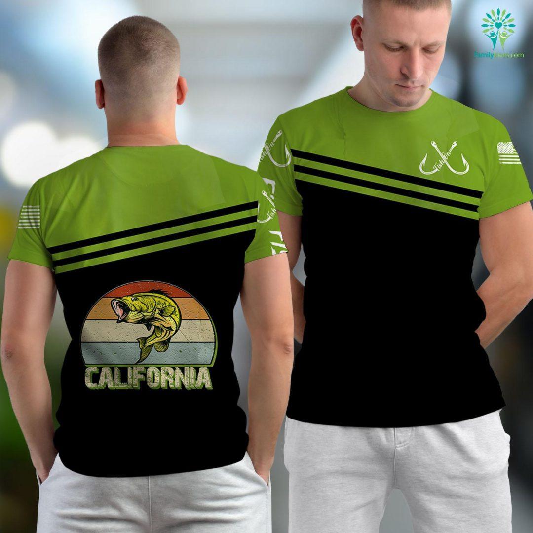 Tai Fish California Bass Fishing Gifts For Bass Fisherman Fishing Unisex T-shirt All Over Print Familyloves.com