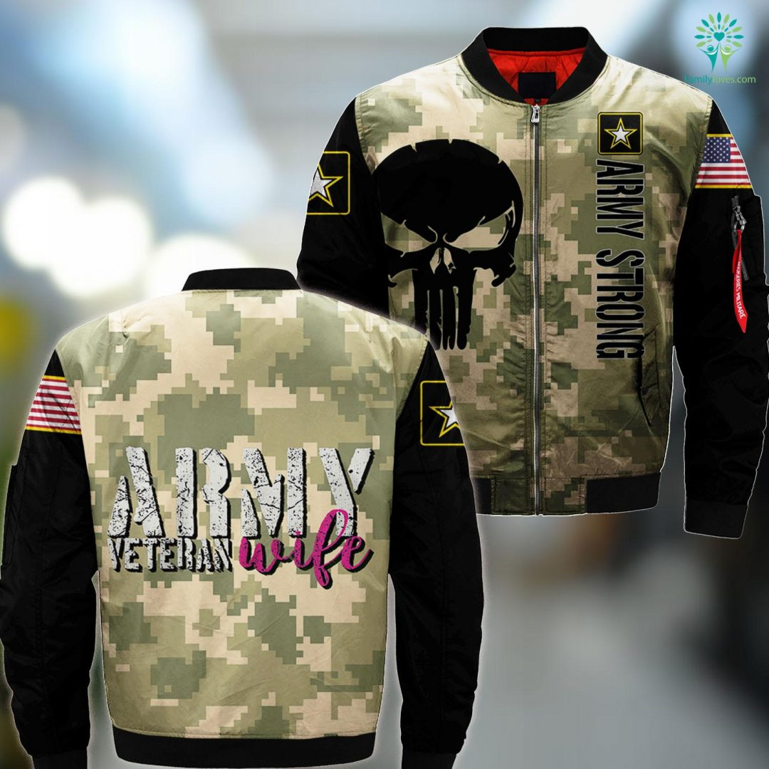 Us Army T Shirts Womens Army Veteran Wife S For Women Veterans Wife MA1 Bomber Jacket All Over Print Familyloves.com