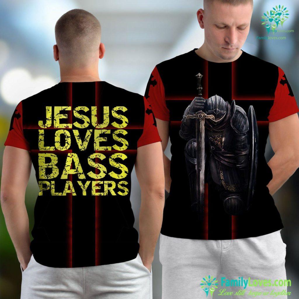 Birth Of Jesus Bible Verse Jesus Loves Bass Players For Men Guitarist Gift Guitar Jesus Unisex T-shirt All Over Print Familyloves.com