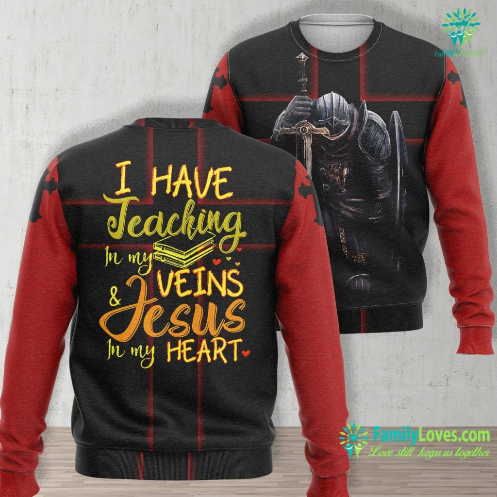 Church Of Jesus Christ Jesus Christian Teacher End Of Year Gift Teaching Jesus Unisex Long Sleeve Sweatshirt All Over Print Familyloves.com
