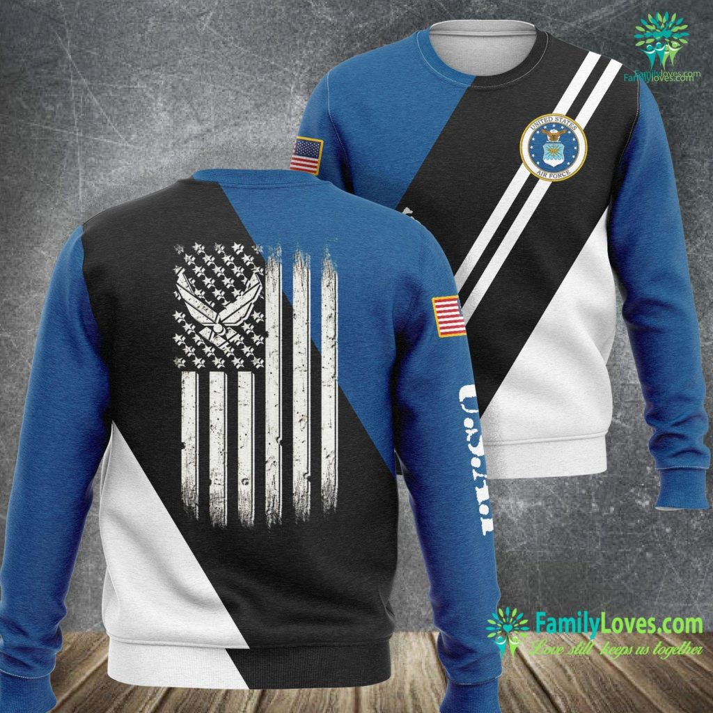 Dover Air Force Base Jobs Us Air Force American Flag Air Force Sweatshirt All Over Print Familyloves.com