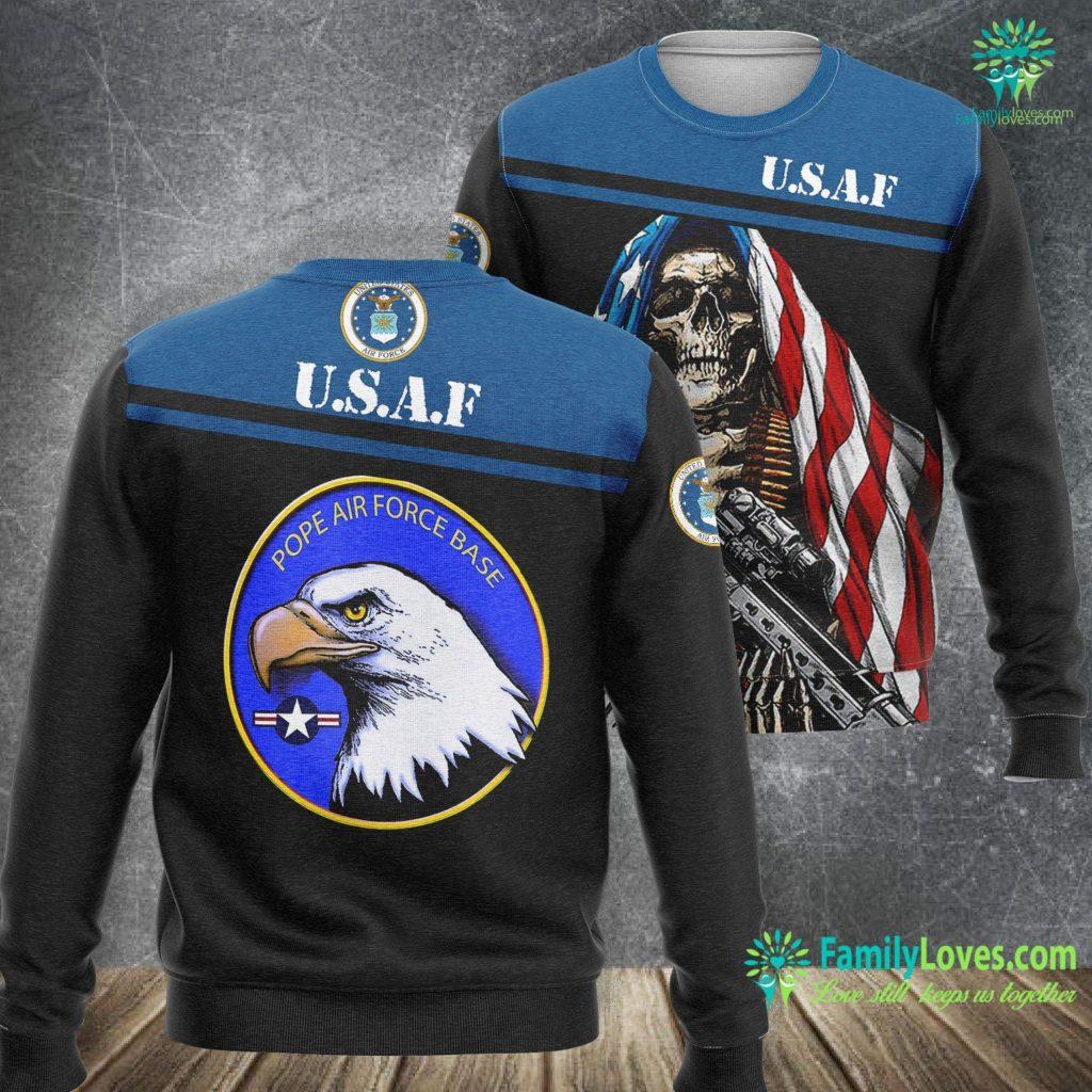 Goldsboro Nc Air Force Base Pope Air Force Base Eagle Roundel Logo Air Force Sweatshirt All Over Print Familyloves.com