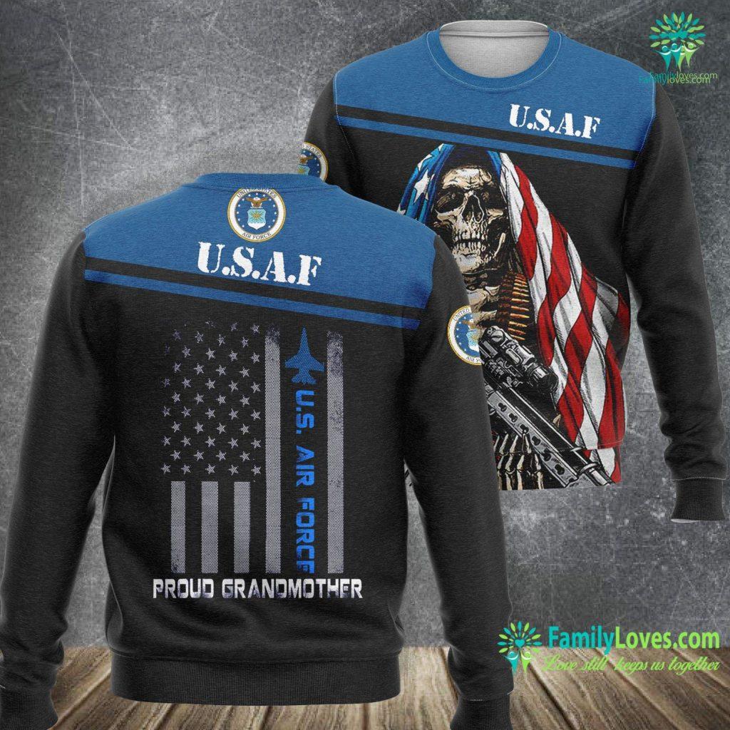 Green Dot Air Force Proud Grandmother U S Air Force Stars Air Force Family Air Force Sweatshirt All Over Print Familyloves.com
