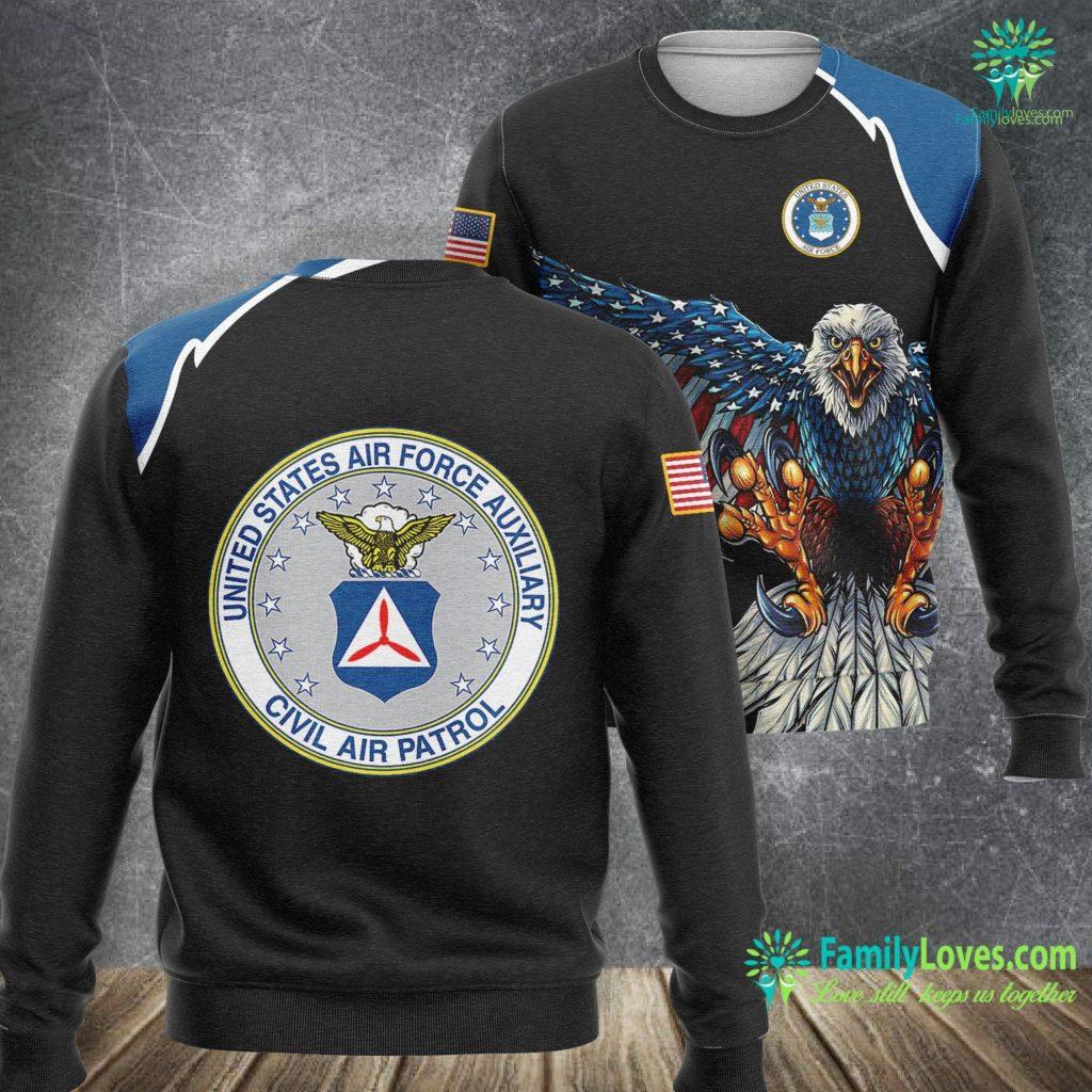 Hill Air Force Base Jobs Best Civil Air Patrol Gifts Circle Air Force Auxiliary Usaf Air Force Sweatshirt All Over Print Familyloves.com