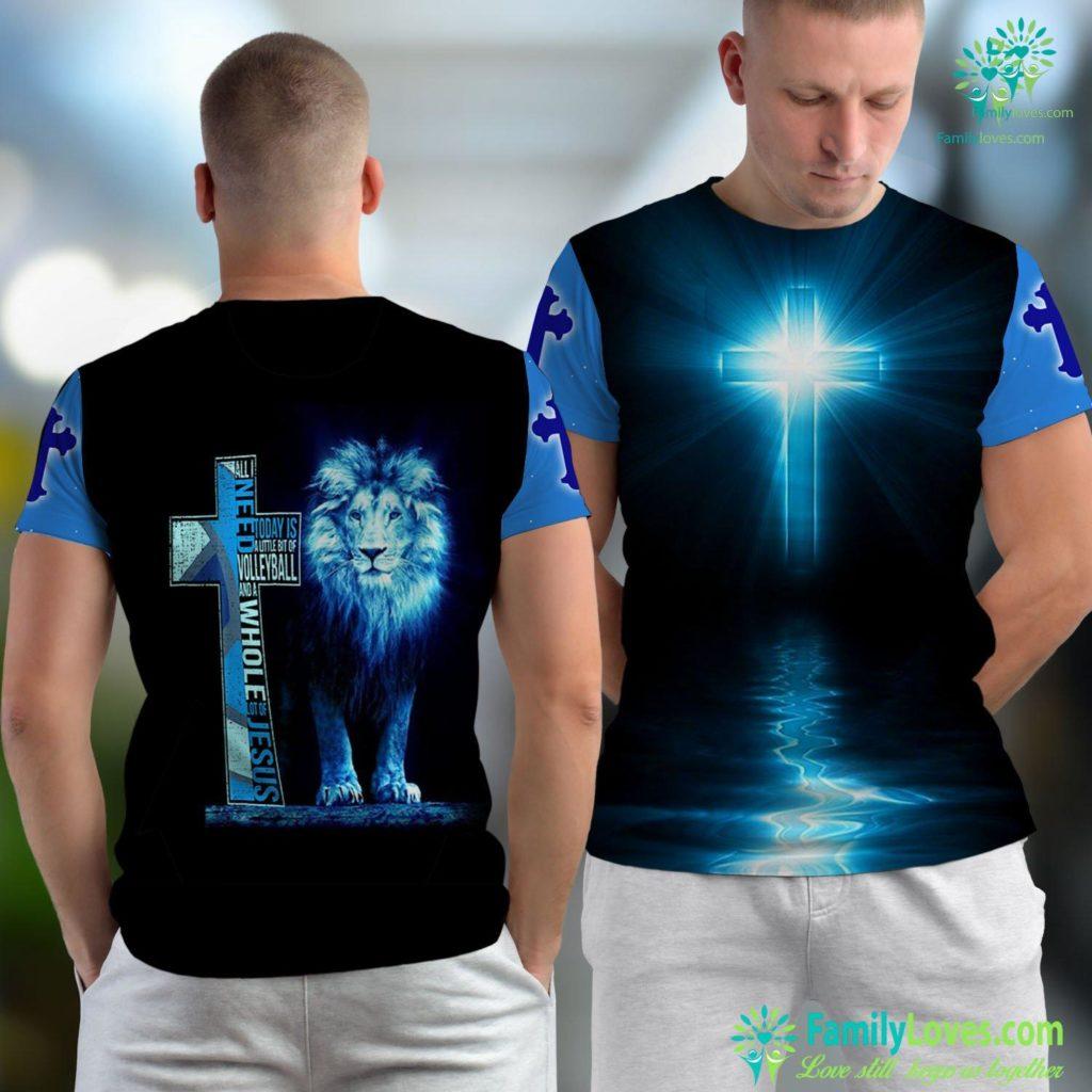 Historical Jesus All I Need Is Volleyball Amp Jesus Christian Cross Faith Jesus Unisex T-shirt All Over Print Familyloves.com