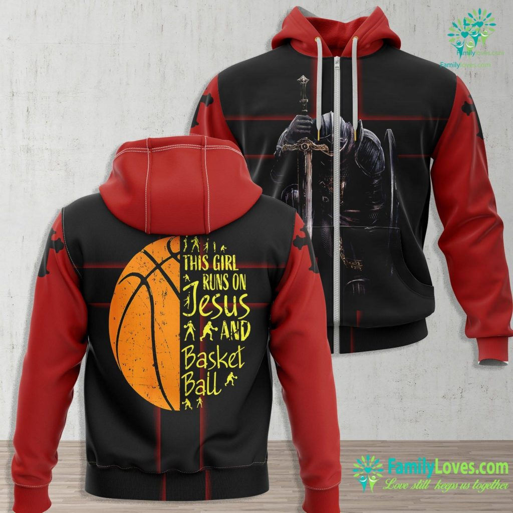 I Love Jesus This Girl Runs On Jesus And Basketball S Gifts Girls Result Jesus Zip-up Hoodie All Over Print Familyloves.com
