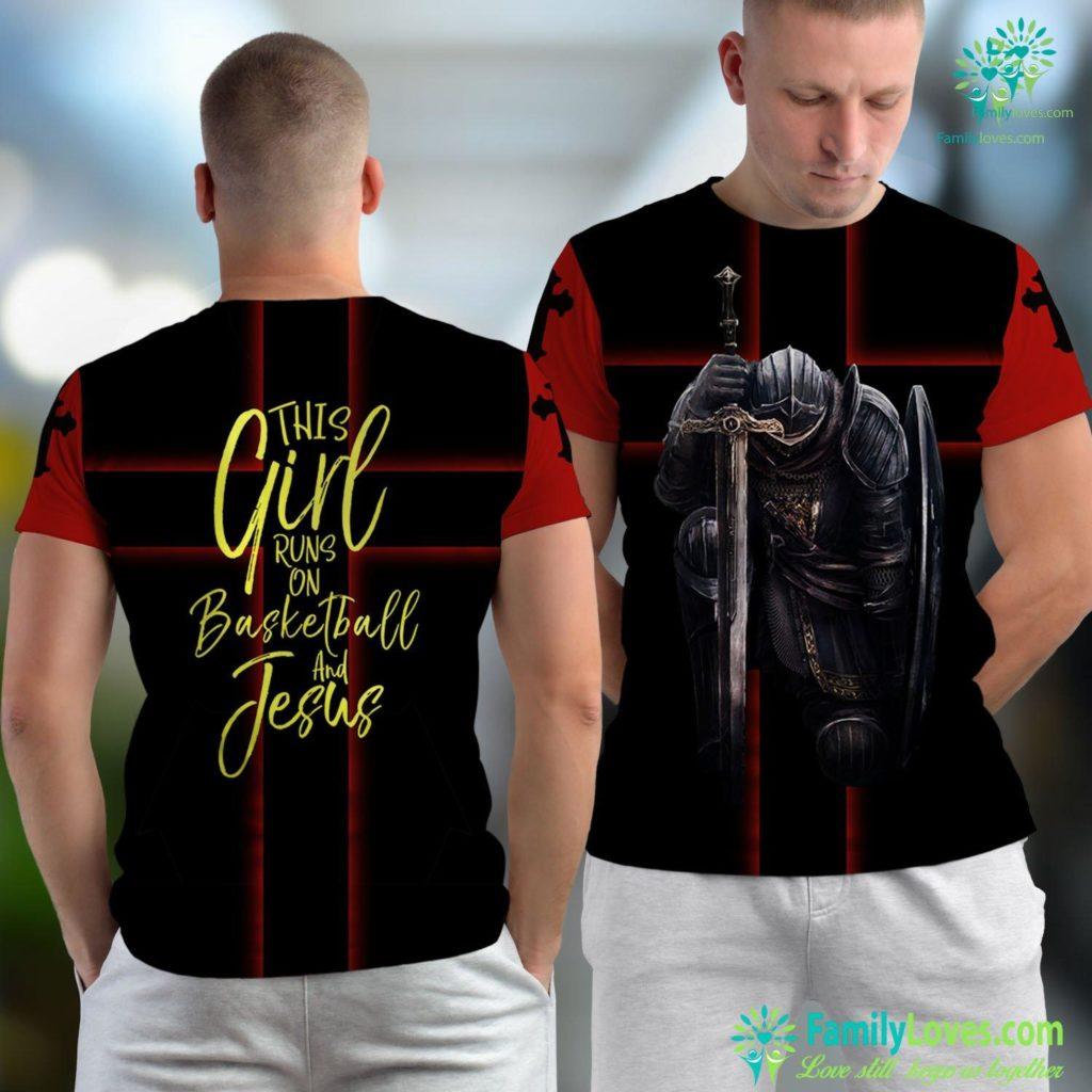 I Love You Jesus This Girl Runs On Basketball And Jesus Cute Christian Result Jesus Unisex T-shirt All Over Print Familyloves.com
