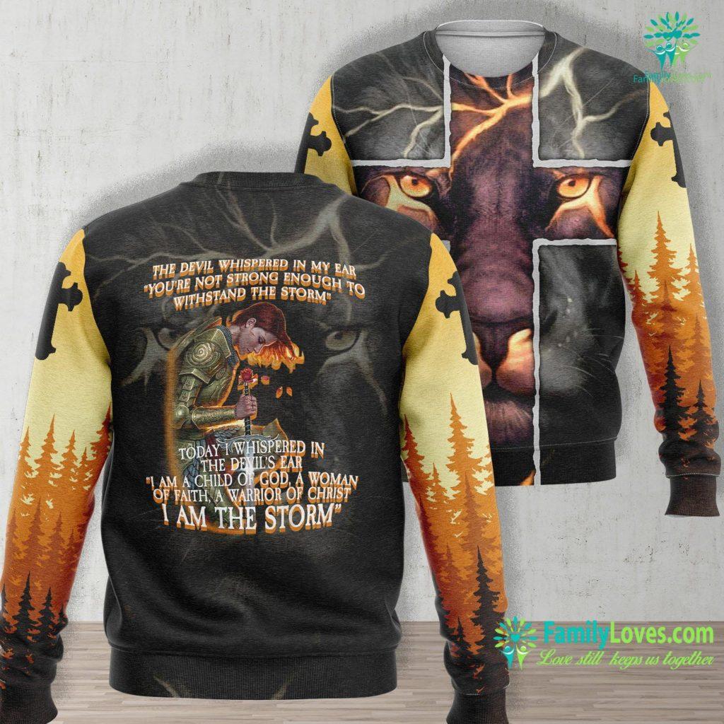 Infant Jesus Church I Am A Child Of God A Woman Of Faith Design On Back Jesus Unisex Long Sleeve Sweatshirt All Over Print Familyloves.com