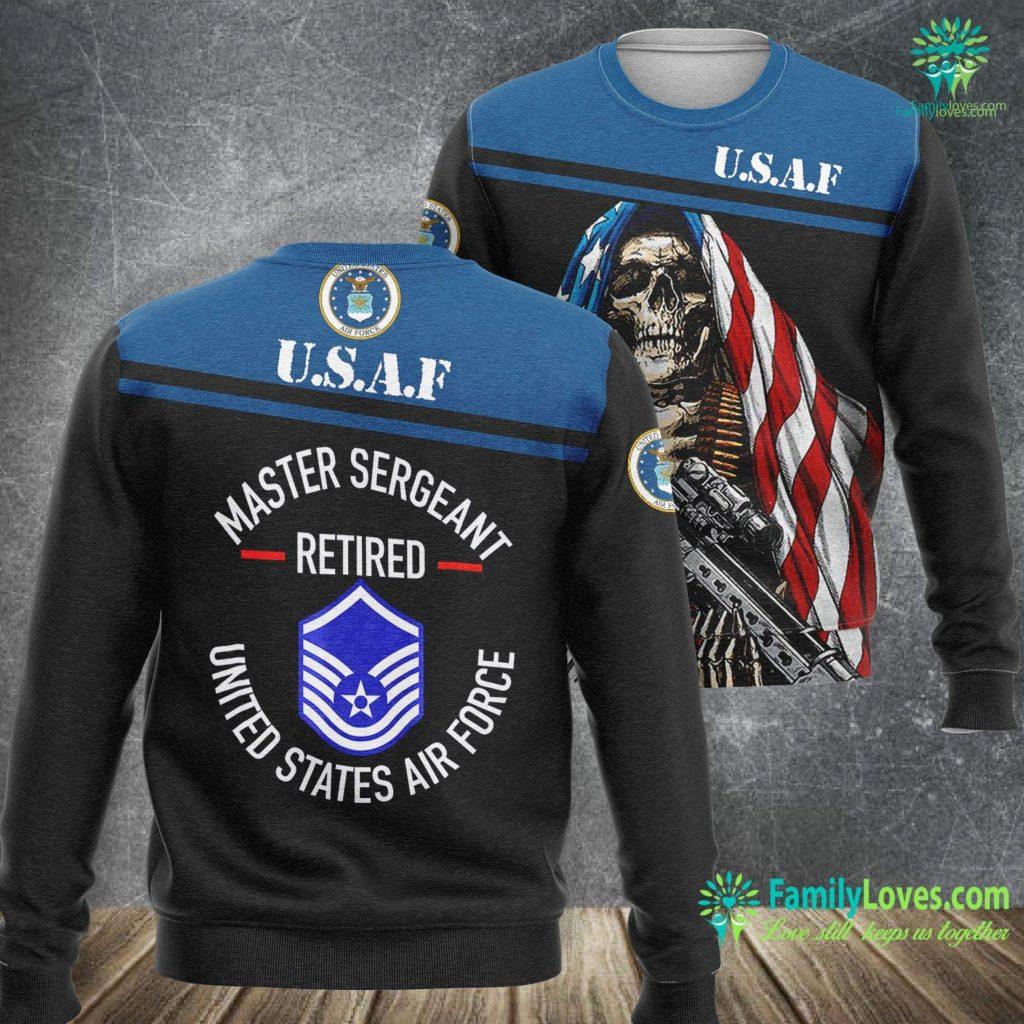 Jacksonville Fl Air Force Base Master Sergeant Retired Air Force Military Retiremen Air Force Sweatshirt All Over Print Familyloves.com
