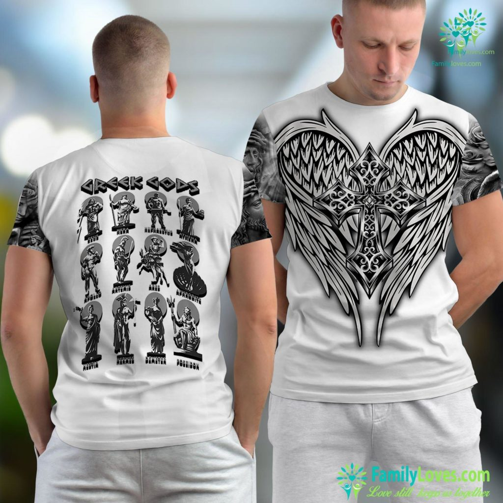 Jesus As A Child Greek Gods Greek Mithology Ancient Legends Jesus Unisex T-shirt All Over Print Familyloves.com