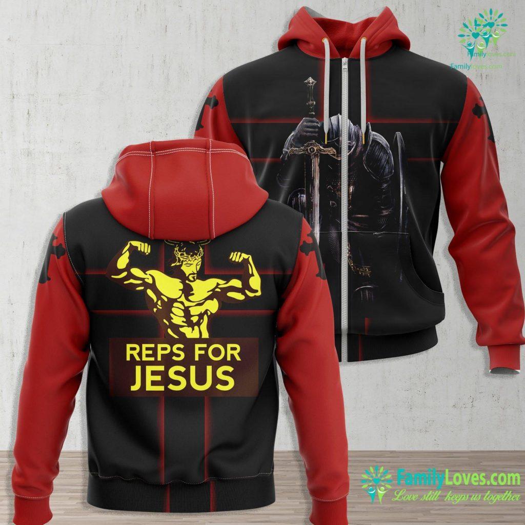 Jesus Christ Death Reps For Jesus Gym Jesus Zip-up Hoodie All Over Print Familyloves.com