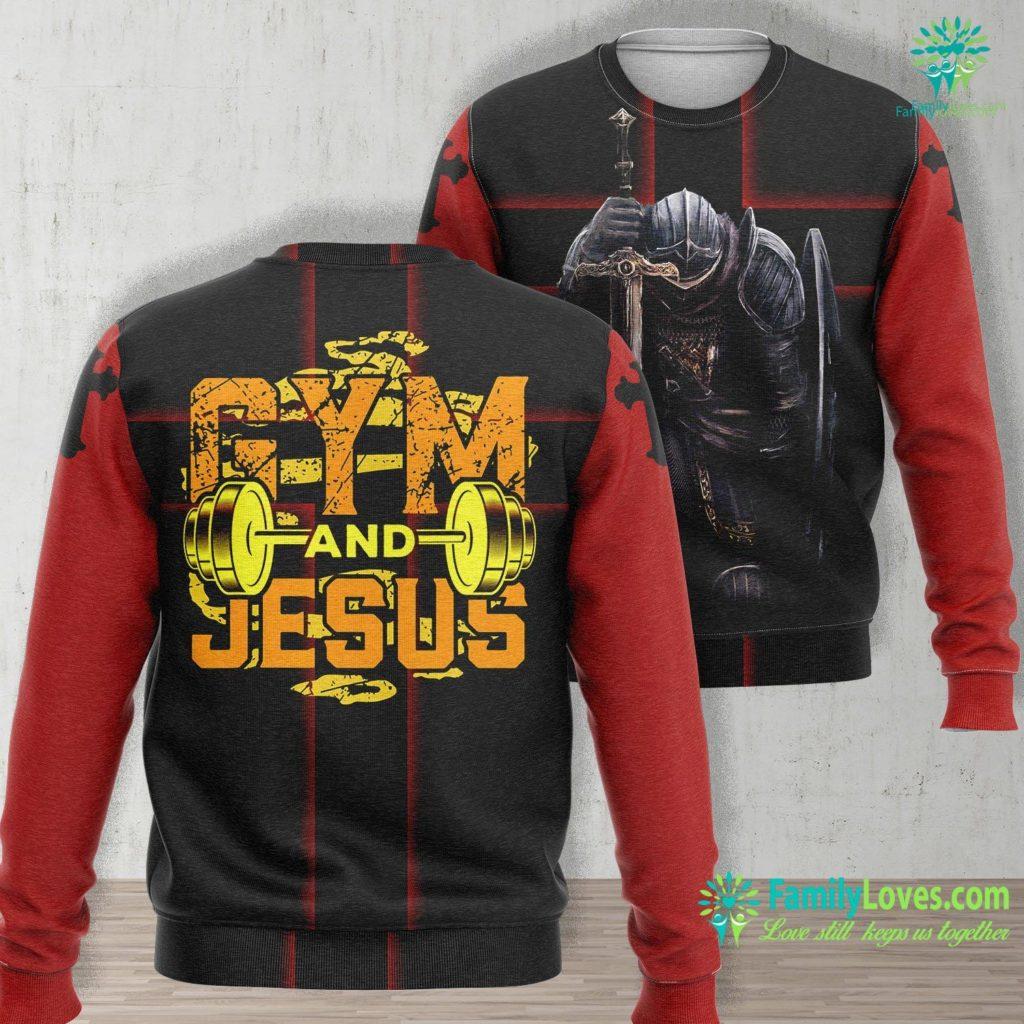 Jesus Christmas Gym And Jesus Jesus Workout Jesus Christian Fitness Jesus Unisex Long Sleeve Sweatshirt All Over Print Familyloves.com