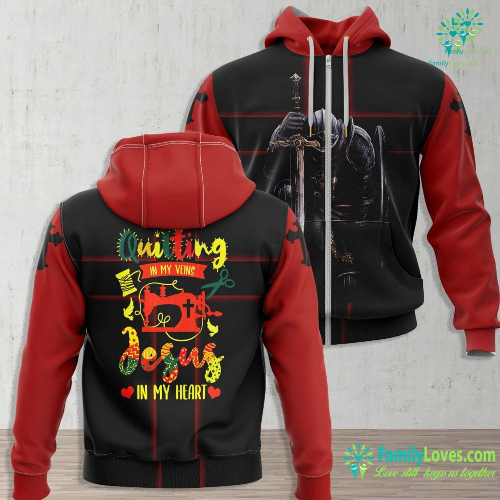 Jesus Is The Way The Truth And The Life Quilting In My Veins Jesus In My Heart Sewing Lover Result Jesus Zip-up Hoodie All Over Print Familyloves.com