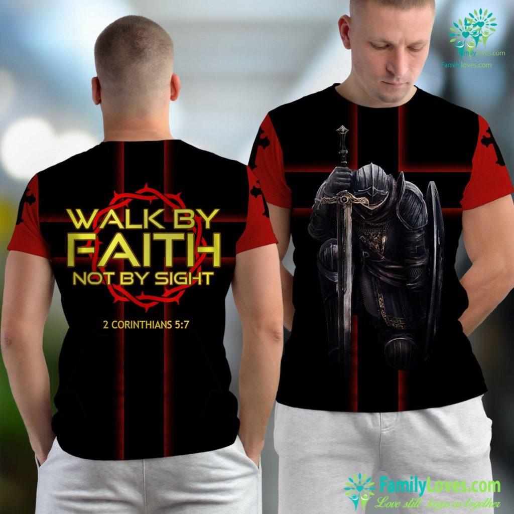 Jesus Messiah Jesus Walk By Faith Christian Jesus Unisex T-shirt All Over Print Familyloves.com