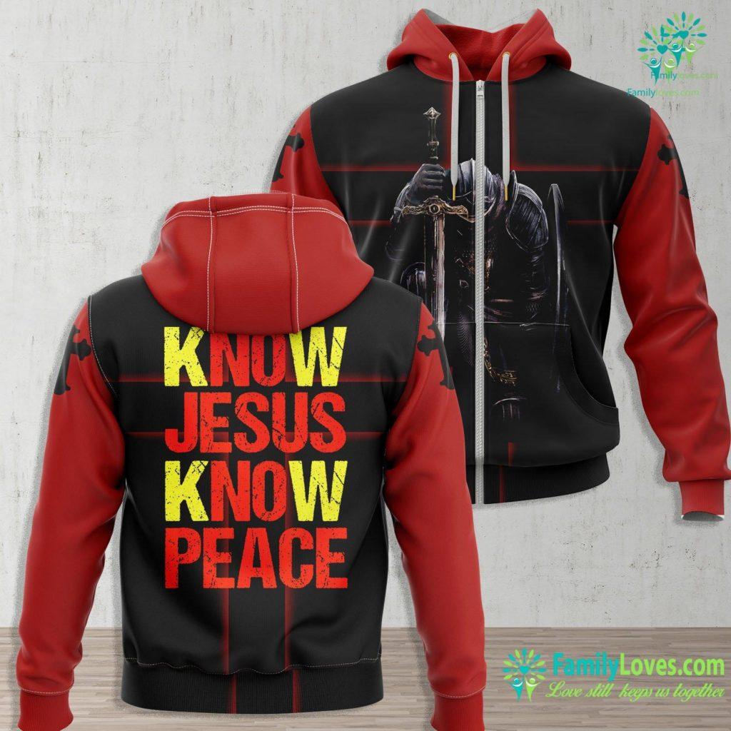 Jesus Of Nazareth Know Jesus Know Peace Christian Faith Religious Pastor Gift Jesus Zip-up Hoodie All Over Print Familyloves.com