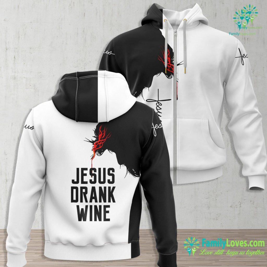 Jesus Peace Jesus Drank Wine For Wine Lovers Premium Tee Jesus Zip-up Hoodie All Over Print Familyloves.com