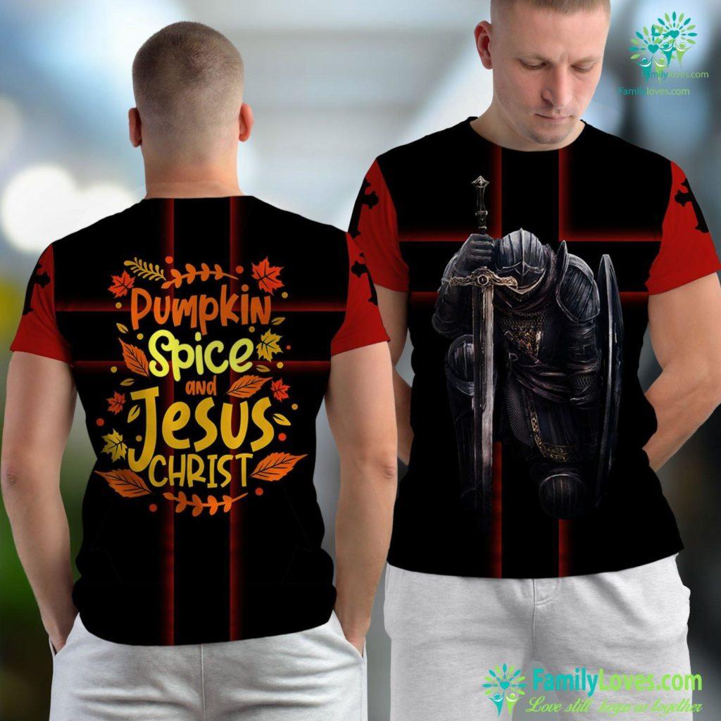 Jesus Praying In The Garden Pumpkin Spice And Jesus Christ Thanksgiving Jesus Unisex T-shirt All Over Print Familyloves.com